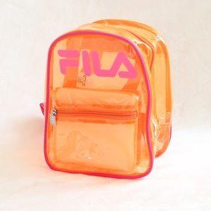 "Fila Neon Orange & Pink ""Zoey"" Backpack"